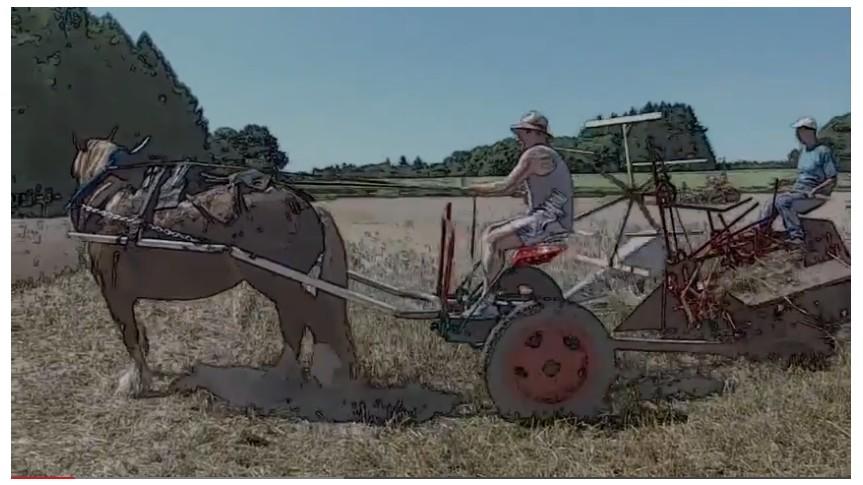 char au tracteur